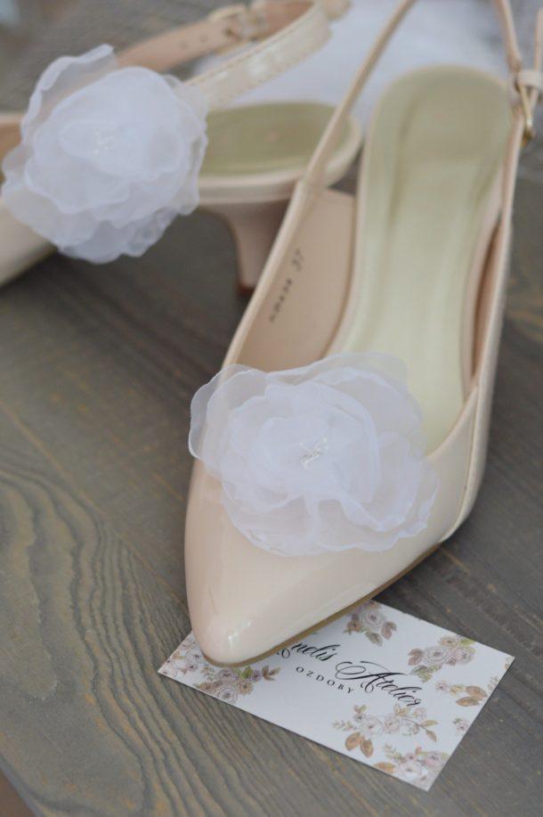 Klipsy do butów Peonie
